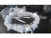 Bride Flower Headband Crown White Communion Party Princess Girl Floral