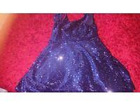 Girls sparkly blue dress