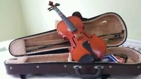 Violin, bow & case