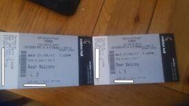 Paramore Colston Hall June 21st Balcony Seats 2 Available