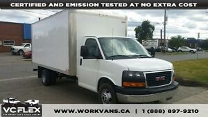 2015 GMC Savana G3500 16Ft Aluminum Box V8 Gas