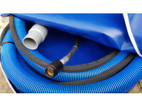 2 inch / 51 mm Vacuum & V2 Fully Sleeved High Pressure Hose 25ft / 7.6m Length Set + Bag