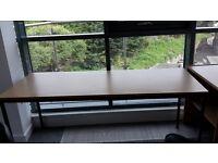 Office table - oak finish