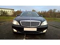 2009/59 MERCEDES 320 CDI S CLASS IN GLEAMING BLACK LOW MILES WITH DEALER HISDTORY