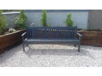 Quirky unique 2 metre long wooden garden bench for sale