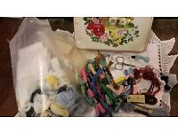Vintage Tin *SKEINS* Embroidery Cross Stitch Threads Joblot Mixed Items Mostly New
