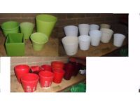 Joblot of indoor plant pots