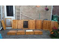Immaculate pine kitchen doors and drawers