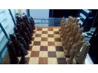 Oriental chess set.good condition.with wooden board nice looking chess set check out the pis