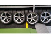 Dynamics Jade-R20'' steel wheels + 4 x tyres 245 35 20/295 30 20 Honda,BMW,Jaguar,Vauxhall and more