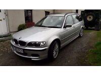 BMW 330d sport touring, 2003, E46, MOT till August. Great car, lots of money spent maintaining it.