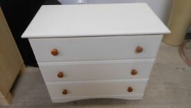 large white 3 drawer chest of drawers . can deliver