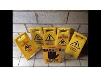 Caution safety wet floor signs - multiple signs available