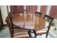 Mahogany dining set with matching sideboard - old but with lots of charm