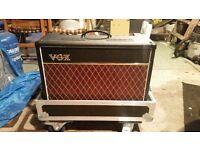 Vox AC15C1 tube amplifier with flight case