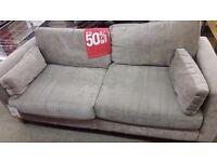 Light Brown Fabric 2 Seater Sofa