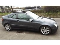 MERCEDES C220 2.2 CDI COUPE DIESEL 57 PLATE SPORT 1 YRS MOT IMMACULATE HPI CLEAR