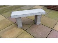Concrete bench (grey)