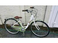 Second hand ladies green/white Raleigh bike