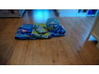 Boys bedroom set x2 single duvets with curtains and lightshade