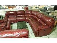 Real leather corner sofa RRP £5000