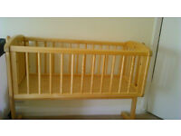 Wooden rocking cot