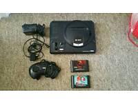 Sega mega drive console with 1 game