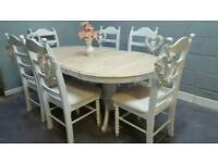 Beautiful Extending table and chair set