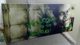 """Batman Arkham Asylum DC Comics """"The Joker"""" Canvas Board"""