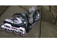 Inline skates, adult size 7, SFR, used but good condition