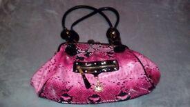 Pink Snakeskin Designer Handbag ( LYDC BRAND )