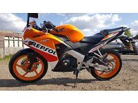 Honda CBR 125, 2016 - 2000 miles, 1 year Honda warnty (better than Yamaha, Suzuki) - Learner legal