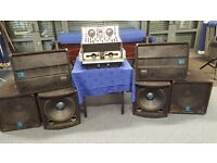 Disco Speakers and Amplifier System 1600 Watts output (Great Sound). Pioneer CD player & Mixer