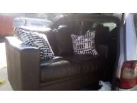 2seater chocolate leather