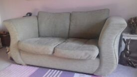 Green 2/3 seater sofa for sale, clean and in good condition