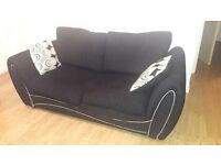 Black comfy sofa in good condition