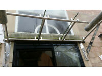 GLASS STEEL HEAVY ENTRANCE CANOPY PORCH DOOR SHELTER COMERCIAL
