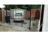 Wrought iron double folding gates