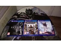 Assasins Creed: Syndicate, Elder Scrolls Skyrim Special Edition, Star Wars Battlefront
