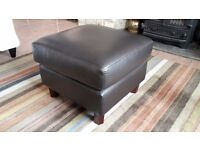 Leather Pouffe / footstool - Dark Brown / Chocolate - Originally bought from John Lewis