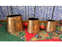 set of 3 copper Cider tody ladels