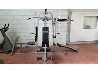 Heavy Duty Steel Frame VLK 3 Station Multi-Gym With 150LBs Weight Stack and Leg Press Station