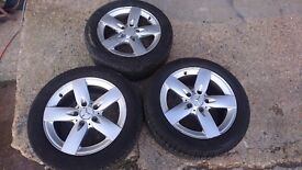 Three wheels and Tyres for Mercedes SLK-2005