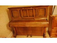 Upright piano in good operating condition but unused and not tunned for 5 years