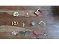 JOB LOT of Jewellery components, stampings, chains, finished Jewellery