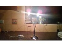 Silver 3 bulb table lamp new