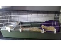 Large rabbit cage and acc for sale £30