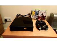 Xbox 360 with 2 controllers and 3 games, newly refurbished console