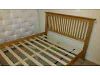 Wooden double bed. Good condition. Dismantled