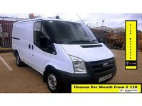 Ford Transit Van 2.2 300 -1 Owner Ex BT- FSH 6 Stamps -1YR MOT-55K Miles Only -ELEC WINDOWS -260 280